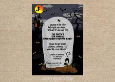 halloween handmade digital invite by HolidayHearthDesigns on Etsy, $15.00