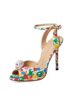 Sophia Skull High Heel Sandal from The It Brits: Charlotte Olympia on Gilt