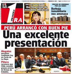 Primer día de alegatos. Perú - 03.12.12 (La Primera - Perú - 04.12.12). #LaHaya #Peru #Chile