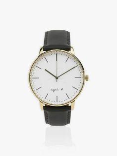 Montre homme bracelet cuir | agnès b. Daniel Wellington, Watches, Accessories, Beauty, Wristwatches, Clocks, Beauty Illustration, Jewelry Accessories