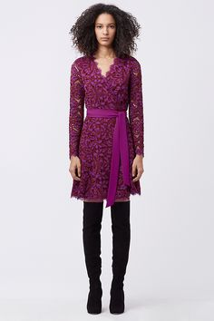 DVF Shaelyn Lace Wrap Dress