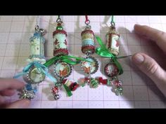 How to Make Altered Cork Christmas Ornaments from Wine Corks http://youtu.be/JE4teAAGi-g
