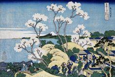 'Fuji From Gotenyama At Shinagawa On The Tokaido by Katsushika Hokusai - art print from King & McGaw
