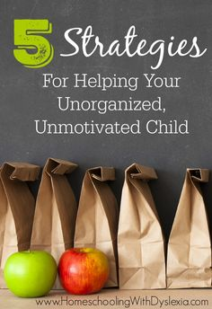 If you have an unorganized child, they may need more intentional help to teach and practice basic organizational skills.