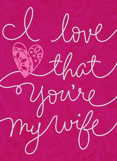You are Wonderful and I love that you are my wife.  I am truly blessed Stacy...