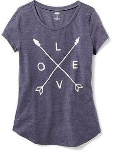 Rounded-Hem Graphic Tee for Girls | Old Navy