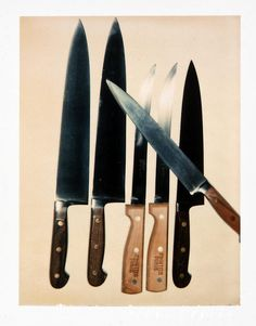 Andy Warhol Knives, 1981 polaroid photograph 4 x 3 1/4 inches; 10.2 x 8.3 cm PK 12372 [Paul Kasmin Gallery]