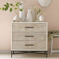 don't like the dresser very much but love the styling on the top and the wall color.
