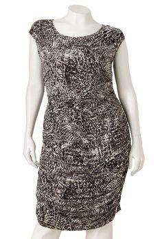 Jennifer Lopez JLo Plus Chaotic Pythonic Ruched Outside Zipper Dress #JenniferLopez #0X1X2X #Clubwear