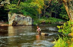 Fly-fishing on the West Branch of the Ausable River in New York. Photo by Frank Houck, from flyfisherman.com