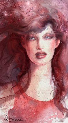 Seeing Red by patriciabrennan.deviantart.com on @deviantART Watercolour by me Pat Brennan.
