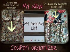 Thirty-One's fold and go organizer for COUPONS!!! :)