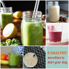 5 Healthy Smoothie Recipes to Start Your Day! It