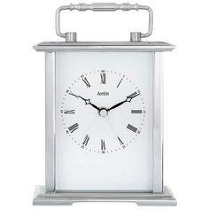 BuyAcctim Gainsborough Carriage Mantle Clock, Silver Online at johnlewis.com