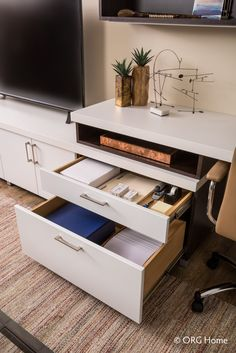 Organized Drawer Space Makes For An Organized Home Office. NOLA Closets Can  Make Your Storage