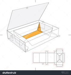 Box With Think Lid, Flip-Flop Lid And Blueprint Layout Stock Vector Illustration 171056573 : Shutterstock