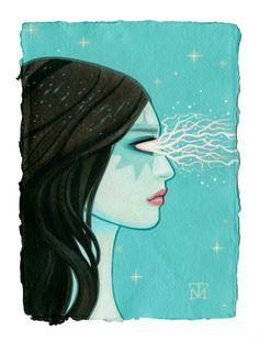 Tara McPherson | ART Paintings I Know It By Heart Lightning