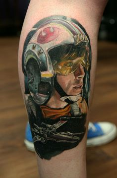 My new Luke Skywalker Star Wars tattoo #starwars #starwarstattoo