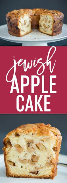 Jewish Apple Cake :: A wonderfully dense and moist cake batter studded with tons of cinnamon-sugar coated apples. The perfect fall dessert for any occasion!