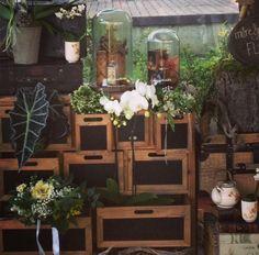 cajones con flores