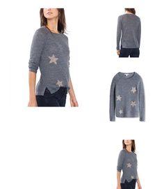 4056896906090 | #ESPRIT #Damen #Pullover #096EE1I011, #Mehrfarbig #(Grey #Blue #5 #424), #34 #(Herstellergröße: #XS)