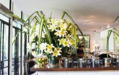 White lilies at PS.Cafe at Harding Road