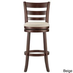 Verona Linen Ladder-back Swivel 29-inch High Back Bar Stool by iNSPIRE Q Classic   Overstock.com Shopping - The Best Deals on Bar Stools
