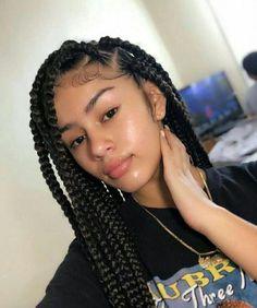 Box Braids On White Girl Idea Box Braids On White Girl. Here is Box Braids On White Girl Idea for you. Box Braids On White Girl box braids on short hair white girl w micro braids Large Box Braids, Medium Box Braids, Short Box Braids, Jumbo Box Braids Styles, Cute Box Braids, Long Braids, Medium Hair, Box Braids Hairstyles For Black Women, Braids For Black Hair