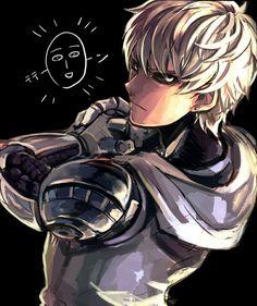 Pixiv Id 237031, One Punch Man, Genos (One Punch Man), Saitama (One Punch Man), Cyborg, Bald