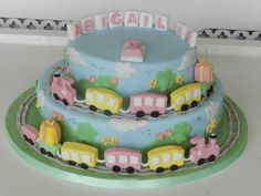 Love this train themed 2nd birthday cake from Cakes by Candy, very cute