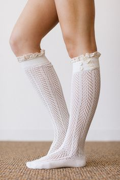 NanaMacs Vintage Boutique - Ivory Knitted Boot Socks, $28.00 (http://www.nanamacs.com/ivory-knitted-boot-socks/)