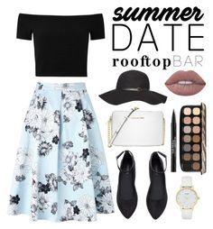 """""""Summer Date Look"""" by nicolezamini ❤ liked on Polyvore featuring Alice + Olivia, Miss Selfridge, Dorothy Perkins, Michael Kors, Lime Crime, Bare Escentuals, Trish McEvoy, Kate Spade, summerdate and rooftopbar"""