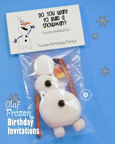"""These Frozen invitations are perfect for anyone wanting an Olaf-themed party! These """"Do you want to build a snowman?"""" invitations are interactive and fun!"""