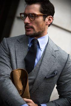 David Gandy, Men's Fashion, Male Model, Beautiful Men, Handsome, Eye Candy, Sexy, Suits, Glasses デイビッド・ガンディ 男性モデル メンズファッション スーツ 眼鏡