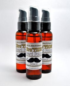 #Beard Care: Bro'TION for #Men #BEARD OIL All #Natural Lime by honibalmshop on Etsy, $10.50