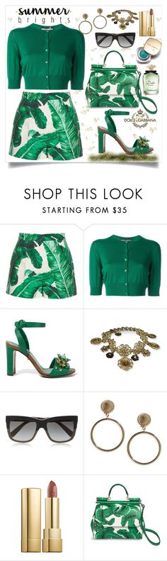 """""""Summer brights #5 : Garden Party 🍃"""" by olavistyle ❤ liked on Polyvore featuring Dolce&Gabbana and summerbrights"""