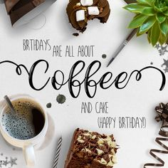 Coffee and Cake Birthday Card Digital Birthday Cards, The Sender, Online Cards, Buy Stamps, Order Confirmation Email, Post Box, Birthday Messages, Easy Peasy, Thinking Of You