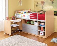 12 Awesome Kids Storage Bed That Will Make an Impression - Home Interior Designs Kids Bedroom Designs, Kids Room Design, Kids Beds With Storage, Kids Storage, Home Interior Design, Corner Desk, Furniture, Awesome, Home Decor