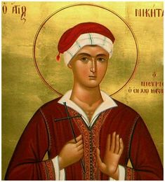 Full of Grace and Truth: St. Niketas the New Martyr of Nisyros Byzantine Icons, Byzantine Art, Best Icons, Icon Collection, Orthodox Icons, Russian Art, Christian Art, Religious Art, Saints