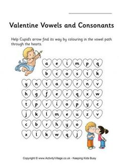 Valentine's Stepping Stones Vowels and Consonants