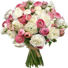Brassée de fleurs - Aquarelle.com Merveilleuses Renoncules