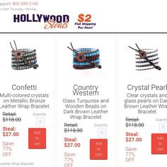 77% OFF 3-Day Flash Sale! Leather Wrap Bracelets only $27! Shop now at HollywoodSteals.com