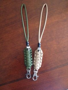 Paracord Lanyards with rotating clasps and Skull with glowing eyes.