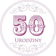 42. Cyferki urodzinowe II 50th Birthday, Happy Birthday, Digital Stamps, Card Templates, Cardmaking, Free Printables, Decoupage, Origami, Numbers