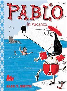 Pablo va in vacanza- da 4 anni-è la storia di un cucciolo che la mattina, quando i suoi padroni escono per andare al lavoro, decide di partire per l'avventura con il suo amico Sir Calzetta, per l'appunto un calzino, con tanto di righe rosse-bianche e occhiali da sole. Chiusi i bagagli e raggiunto il mare, Pablo fa di tutto per assomigliare agli altri frequentatori della spiaggia, dando inizio a una sequela di azioni molto buffe (in quanto eseguite da un cane), che però non gli impediscono…