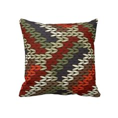 Knitted Pattern Pillow