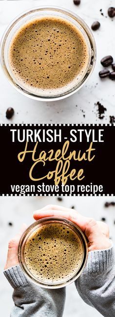 A vegan hazelnut coffee recipe with a cultural twist! This Turkish Stylevegan Hazelnut coffee is one smooth yet robust homemade cup of coffee! It's easy to makeon the stove top,made with simpleingredients, and dairy free. Acreamy vegan coffee drink to sip and savor! #dairyfree @so_delicious #cartwheelforcreamer @target
