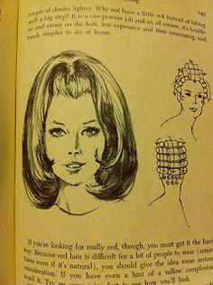 1960's hair illustration