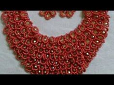 On How To Make Bead Jewellery. This video shows the of how to make jewelry by using your breast pad . The materials used include : -Breast Pad -Cone Bead -Size 2 Sand Bead -ScissorsCutter -Pencil -Disc -Size . Beaded Jewelry Designs, Bead Jewellery, Custom Jewelry, Diy Jewelry, Handmade Jewelry, Jewellery Making, Lace Jewelry, Beading Tutorials, Beading Patterns