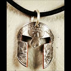 Spartan Pendant US Quarter Sterling Silver Clasp Molon Labe